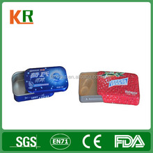 Accept Custom Order and Candy Industrial Use sliding tin box