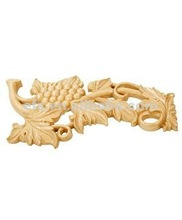 Hand carved ornamental wood onlays for cabinets EFS-M-9021S