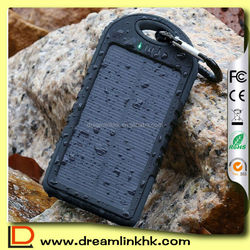 Hot Sales 12000mAh Solar Panel Charger Power Bank for Camping Emergency Charging