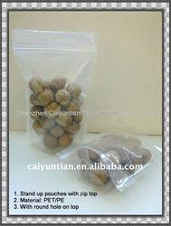 Transparent top ziplock bags for dry food packing,plastic dried fruit package bag, Plastic food packaging bag for dried fruit