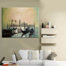 Wholesale High Quality Low Price Handmade Venice Pictures On Canvas