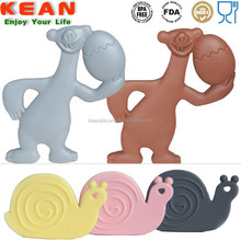 100% non-toxic silicone soft baby teether toys for toddler