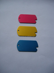 colorful anodizing aluminum blank mens dog tags