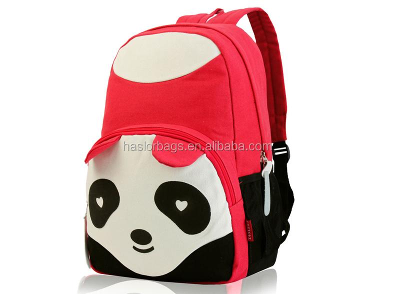 2015 nouveau design mignon panda de bande dessinée sac à dos pour l'école les adolescents