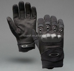 LOVESLF tactical gloves high quality full finger leather gloves motorcycle