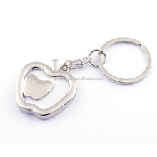 metal apple shape photo frame key chain