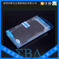 iphone case blue color printing transparent PET costom plastic blister packaging box