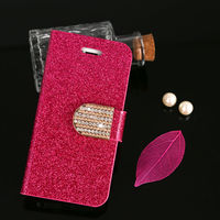 For Apple iphone 5G 5S PU Wallet Bling Leather Case Cover Pouch