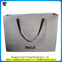 Popular Wholesale Different Types Of Paper Ribbon Tie Gift Bags