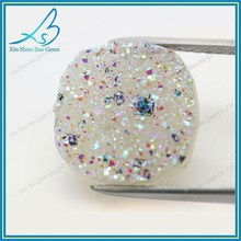 Alibaba Gold Supplier Wholesale Cushion Shape Druzy for Pendant