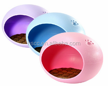 Cute design Folding Plastic Egg shape Pet House/Bed
