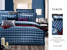 dark blue printed bedding set for home use