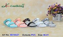 2015 Coolking PVC sandals New style fashionale design Classic Shoe summer sandals 2015 Manufacturer shoe Flat shoe
