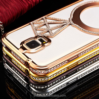 New design mobile phone diamond hard metal back cover case for samsung galaxy S5