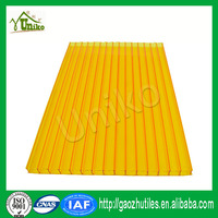 4mm 5mm 6mm green colored polycarbonate sheet twin-wall hollow policarbonato alveolar, PC roofing cover UV resistance