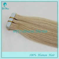 """20pcs 50g/pack Color #613 Silky Straight Hair Weaving PU Skin Weft Tape in Hair 100% Real Human Hair Extensions 16""""-26"""""""