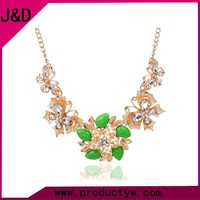 2015 Jewelry, Chain Fashion Resin Butterfly Flower Necklace