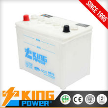 Best quality and good price dry charged Auto batteries 65D26R King Power China manufacturer