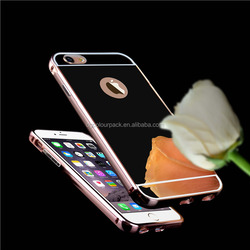 Factory Direct Sale Luxury Electroplating Mirror cellphone Case for Apple iPhone 6/6 plus