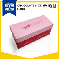 Customized design food grade paper packaging box for cake