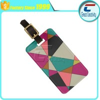 Acrylic Luggage Tag - Beautiful Triangle Shape Rectangle Card - 2015 New Products