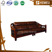 High end FSC approved dark walnut color series wood SOFA bed