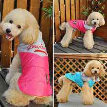 Mix Color Pet Dog Puppy Wear Warm Autumn Winter Jacket Coat Clothes With Two Foots BY-129