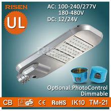 Risen DLC UL CE RoHS 5 Years Warranty Led Parking Lot, Daylight Sensor led street light manufacturers