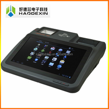Touch tablet all in one pos system with MSR/ RFID Reader ,2D barcode scanner,thermal printe for e-ticketing business ----Gc039B