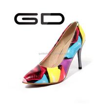 GD Newest fabric high heels simple thin heels women dress shoes