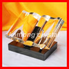 Personalized keepsake crystal book trophy award with fully stock