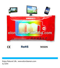 new mobile phone touch screen wet wipes with natural without alcohol solution
