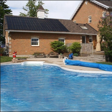 New product 2015 popular USA PP+ABS black flat solar panels for pool