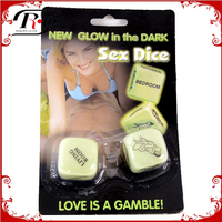 party fun gambling adult novelty glow in the dark sex dice game