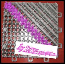 Dust control nylon rubber edge door mat with loop