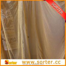 Folding golden aluminum sequin fabric for room decorations