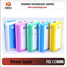 portable mobile power bank 5600mah for smart phone