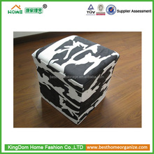 Indian sex furniture ottoman folding fabric storage ottoman stool with cover