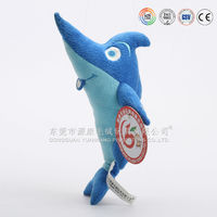 ICTI 2015 factory OEM high quality plush shark for kids