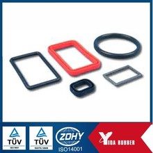 China manufacturer OEM supply square flat EPDM rubber gasket, black rubber gasket sealing with oil proof