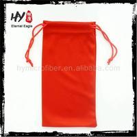 hot recommend microfiber drawstring bag,microfibre sunglass pouch,soft microfiber sunglasses pouch