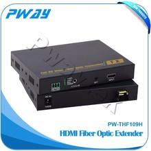 Transmits HDMI video signals up to 10km over one fiber optic cable fiber optic equipment