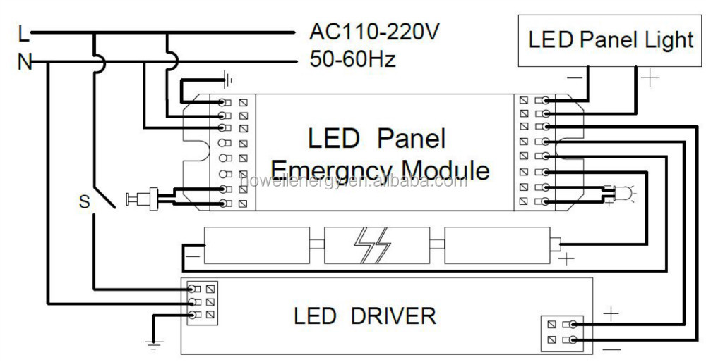 emergency backup battery pack for led down light 20w