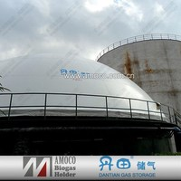 2015 Biogas enamel steel material storage tank for generating electricity from waste