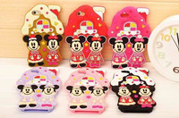 Mickey&Minnie Mouse Silicone Mobile Phone Cover For iphone 5/5s, 3D Cartoon Cases For iphone 6, Christmas Gift For iPhone 6 plus