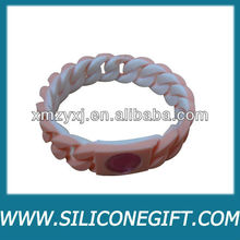 silicone twist double-layer power bracelet