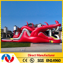 Fast delivery Wahoo red dragon inflatable slide for sale