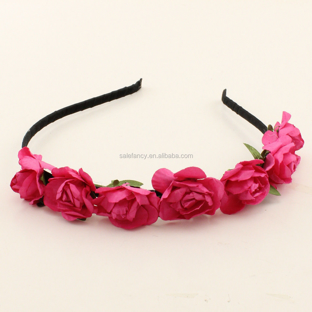 New Pick 2 Boho Flower Headbands Floral Crown Blue Pink Purple Red