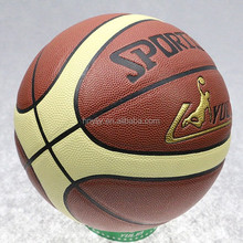 Hot sale cheap leather basketballs 7# PU Standard Match Basketball