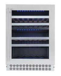 Popular Dual zone built-in installation Wine Cooler/Refrigerator 220V